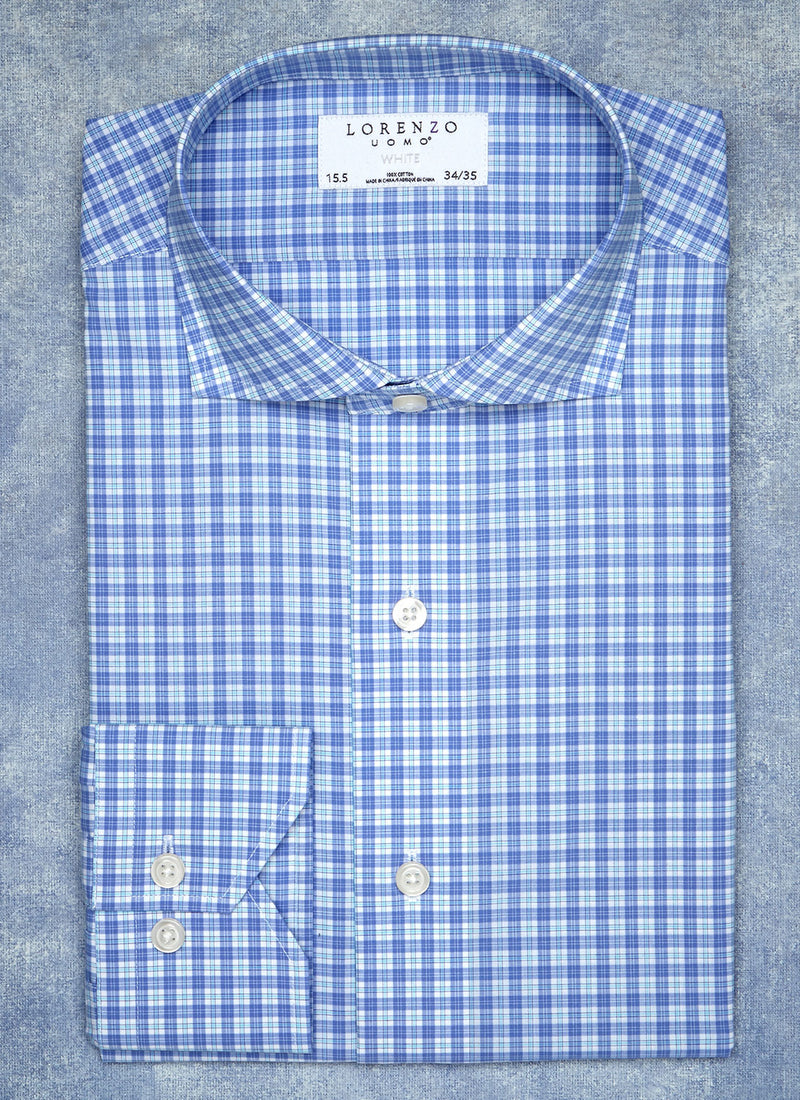 William Fullest Fit Shirt in Blue Multicheck