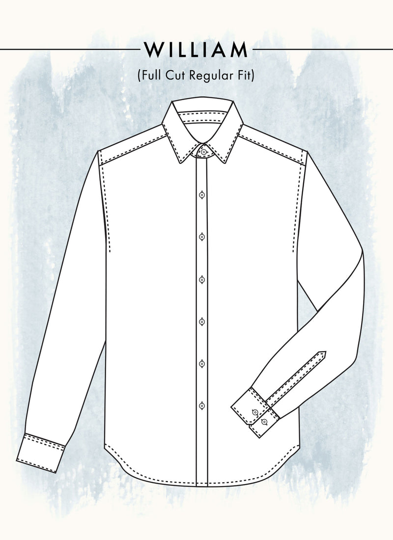 William (Fullest) Dress Shirt Fit Guide