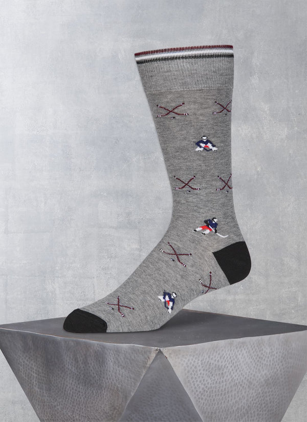 Hockey Player Sock in Grey