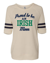 Proud Mom Ladies Yardliner Terry Sweatshirt