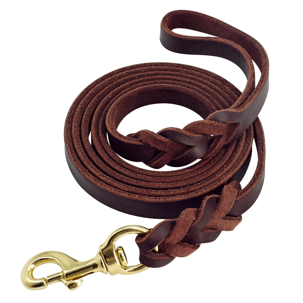 Genuine Leather K9 Dogs Leashes