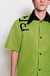Neon Mesh Profaniparty Button Up