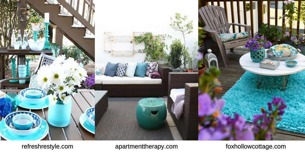 Delight In Designs Blog-Outdoor Spaces-Teal, Blue, Purple Outdoor Set