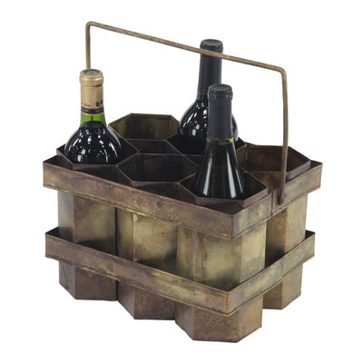 Metal 6 Bottle Holder - Delight In Designs