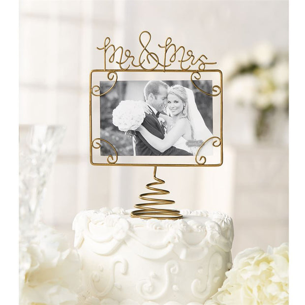 Mud Pie Mr. & Mrs. Wire Topper Frame - Delight In Designs