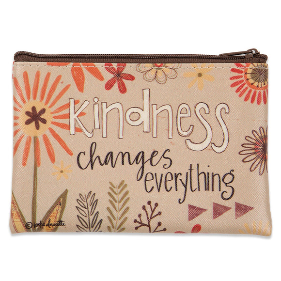 Kindness Zippered Coin Purse