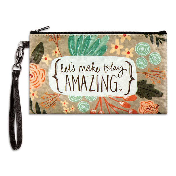 Make Today Amazing Zippered Bag - Delight In Designs
