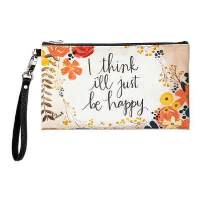 Just Be Happy Zippered Bag - Delight In Designs