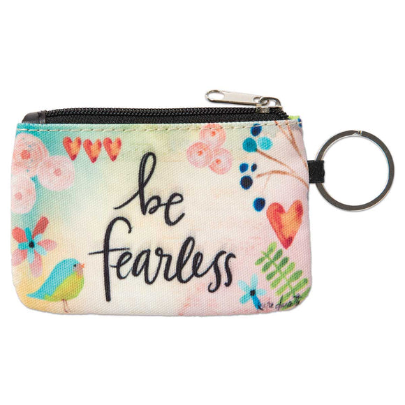 Be Fearless ID Wallet Keychain - Delight In Designs