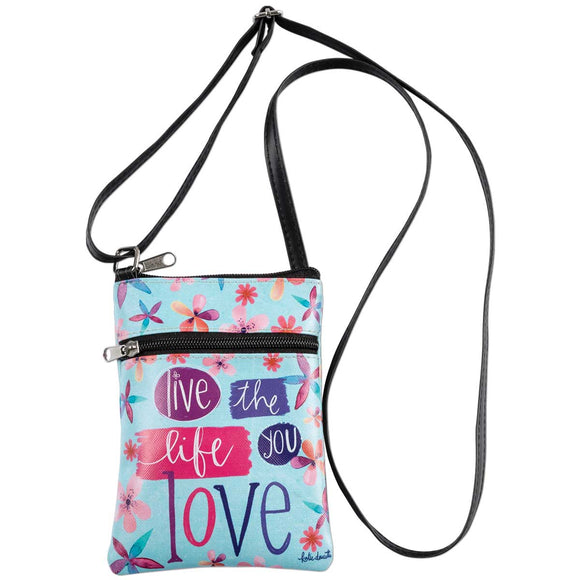 Live The Life Crossbody Bag - Delight In Designs
