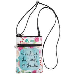 She Believed Crossbody Bag - Delight In Designs