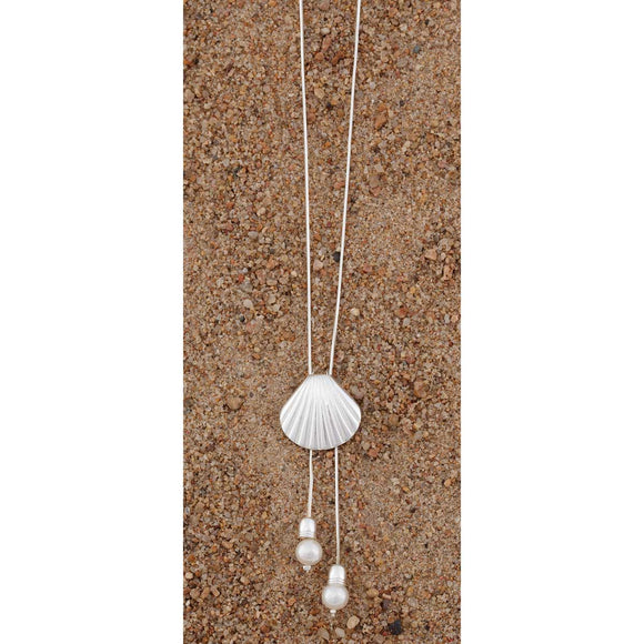 Antique Silver Seashell Necklace - Delight In Designs
