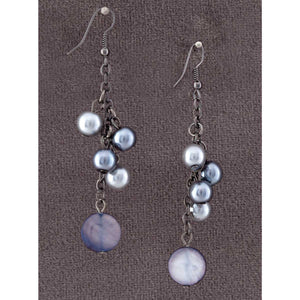 Gray and Black Beads Earrings