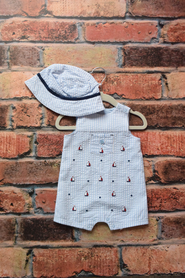 Little me sailboat sun suit - Delight In Designs