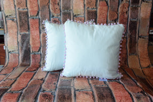 Pink Pom Pillow - Delight In Designs