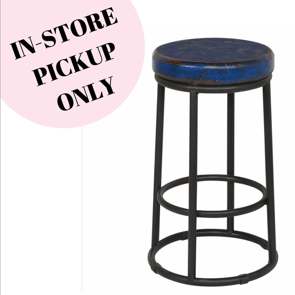 Jaden Counter Stool Dark Blue-IN STORE PICKUP ONLY