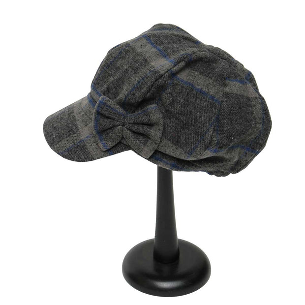 Grey and Blue Plaid Slouch Hat - Delight In Designs
