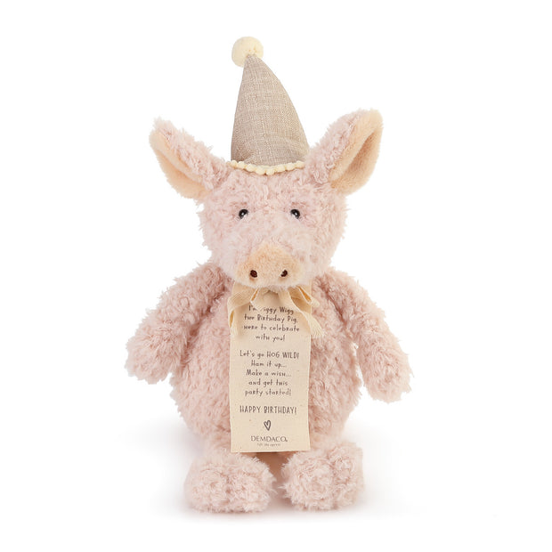 Piggy Wigg the Birthday Pig Plush Toy - Delight In Designs
