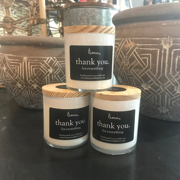 Lima Candles Thank You For Everything 9oz - Delight In Designs