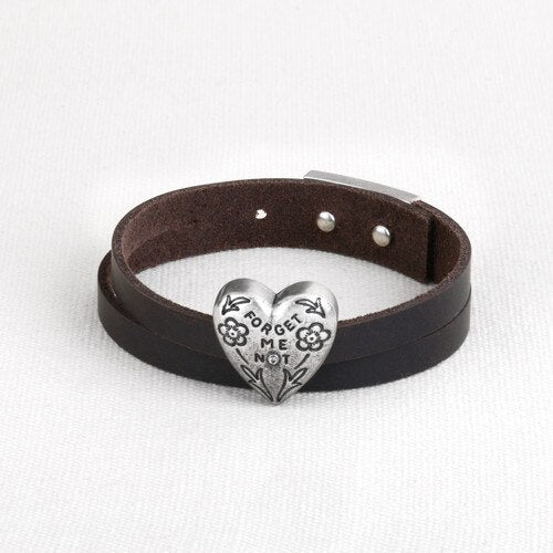 Story Heart Bracelet - Forget Me Not - Delight In Designs