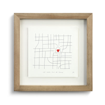 All Roads Lead to Home Small Wall Art - Delight In Designs
