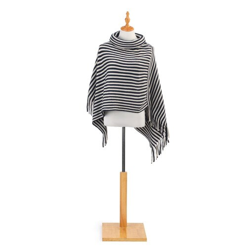 Cowl Neck Poncho-Multiple Color & Styles Available