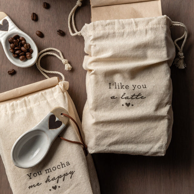 Heart Coffee Bag with Scoop Set of 2