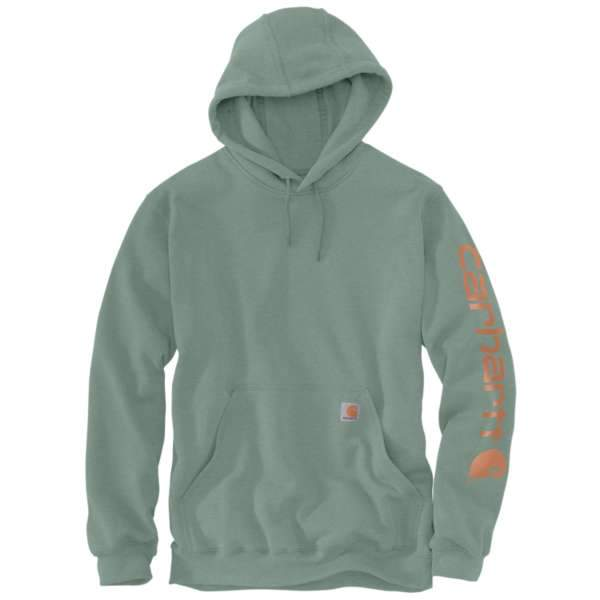"Carhartt Kapuzenpullover mit Arm Aufdruck ""Leaf-Green Heather"""