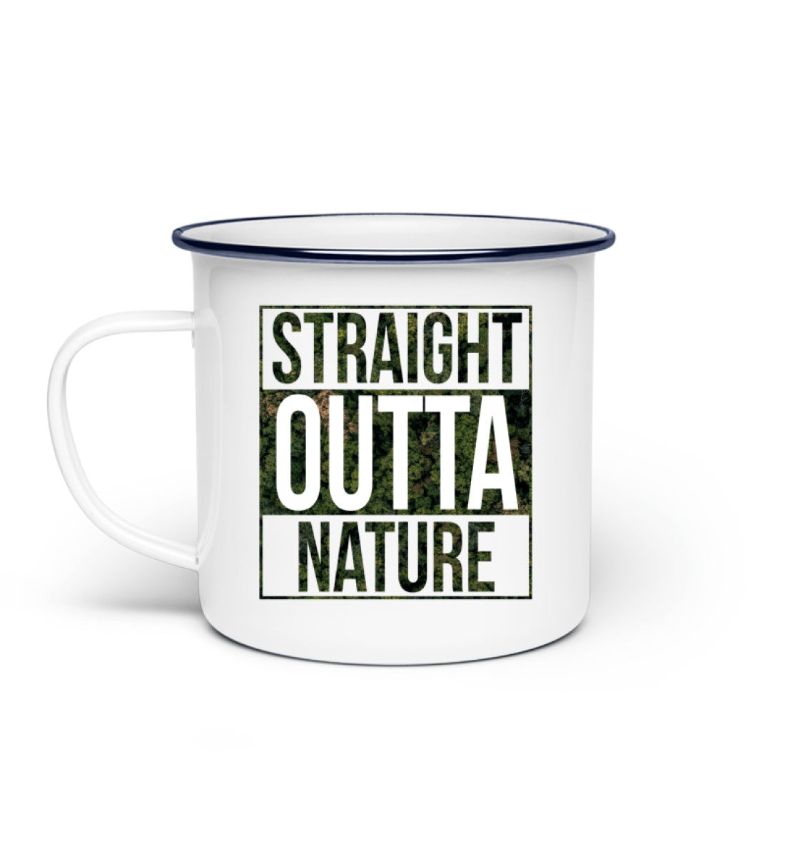 Straight outta Nature Enamel mug