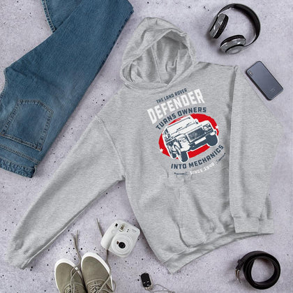 The Defender Mechanics Unisex Hoodie