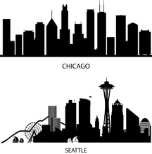 Load image into Gallery viewer, City Skyline (LARGE- VERTICAL)