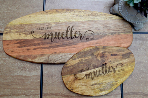 Personalized Engraved Cutting Board Set of 2
