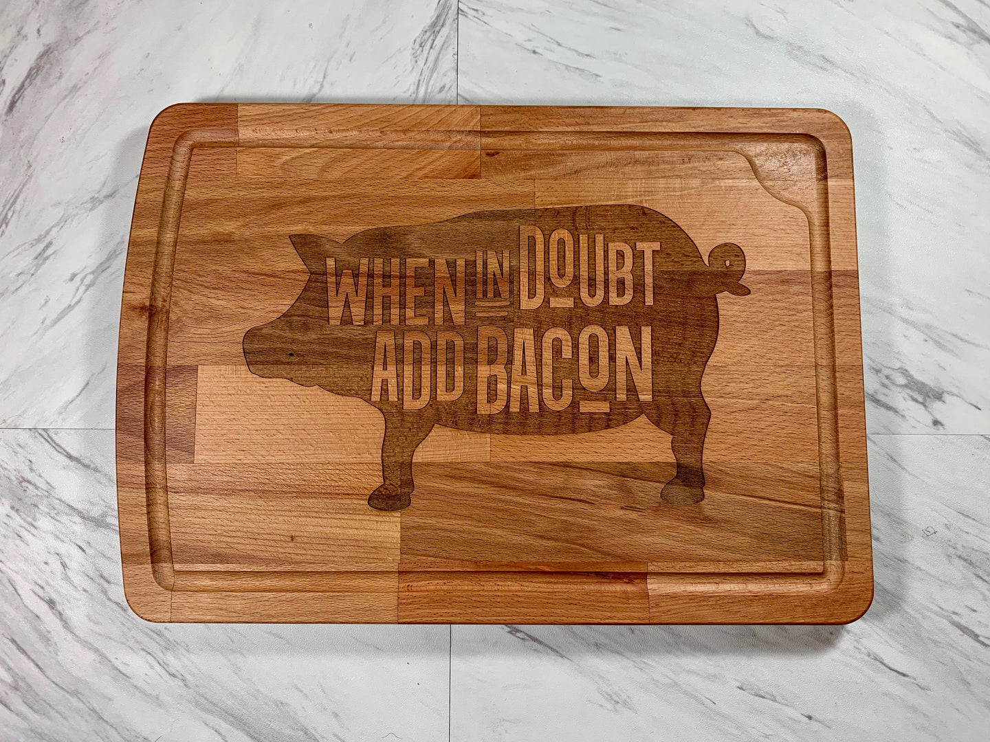When In Doubt Add Bacon Cutting Board