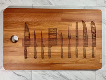 Load image into Gallery viewer, Knives 101 Cutting Board