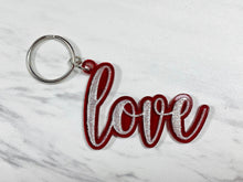 Load image into Gallery viewer, Acrylic Word Keychain - Inspire, Create, Love, Believe, Dream