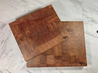 End Grain Cutting Board - Cambara Wood