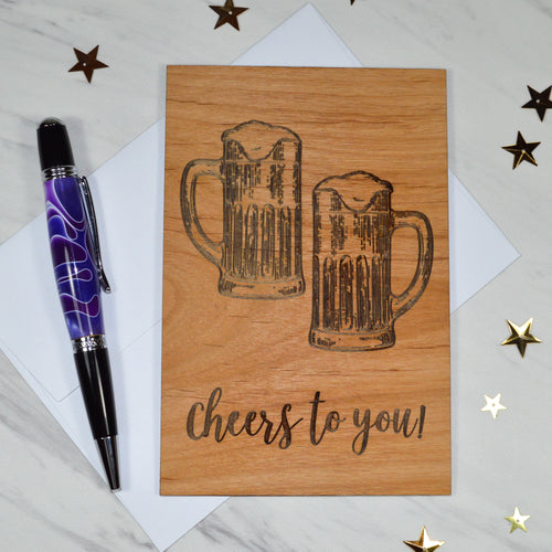 Cheers to You! - Cherry Wood