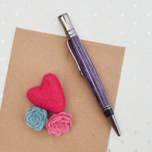 Purple and Grey Wood Pen
