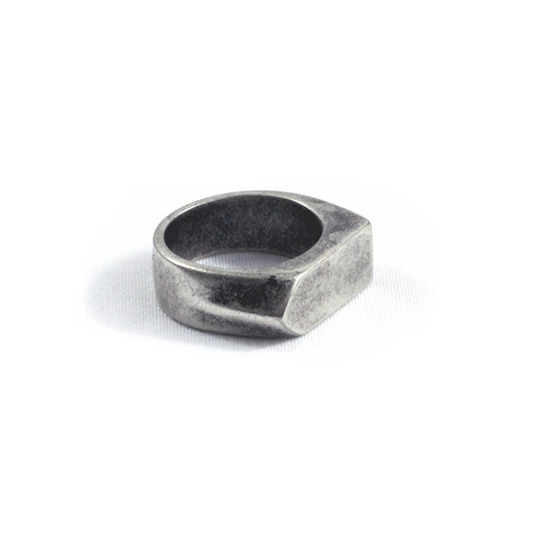 Warren Peace - Chopper Ring in Antique Silver - Designer Streetwear