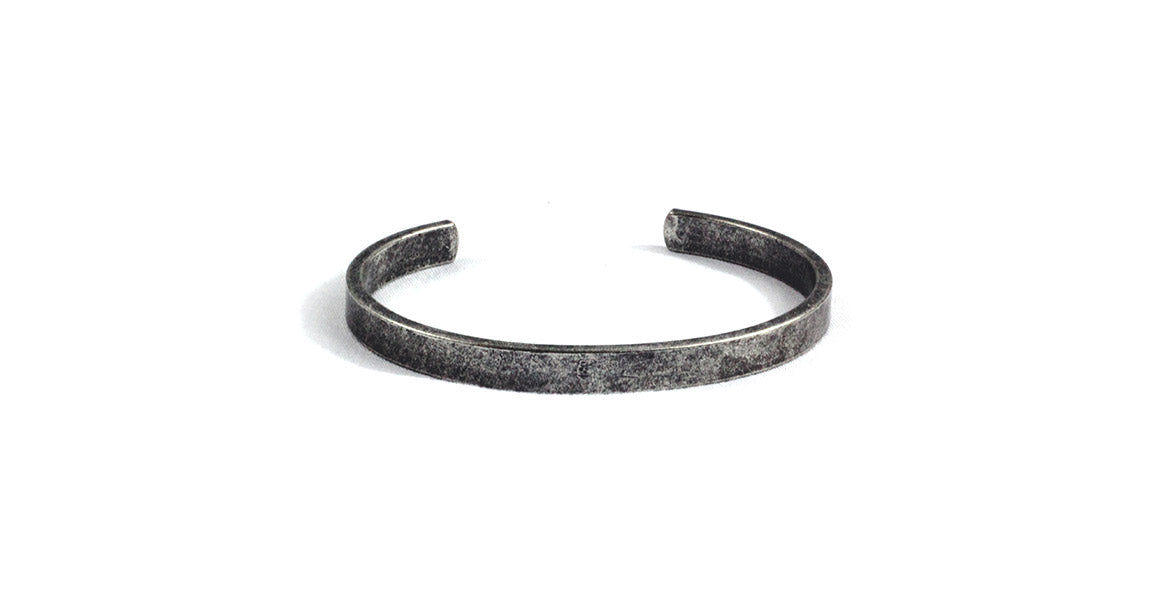 Warren Peace - Reaper Classic Bangle in Antique Silver - Designer Streetwear
