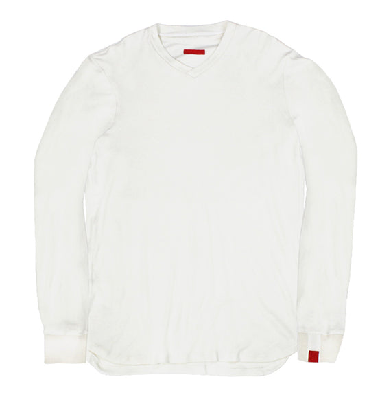 Warren Peace - Remy Long Sleeve T-Shirt in White Cover - Designer Streetwear