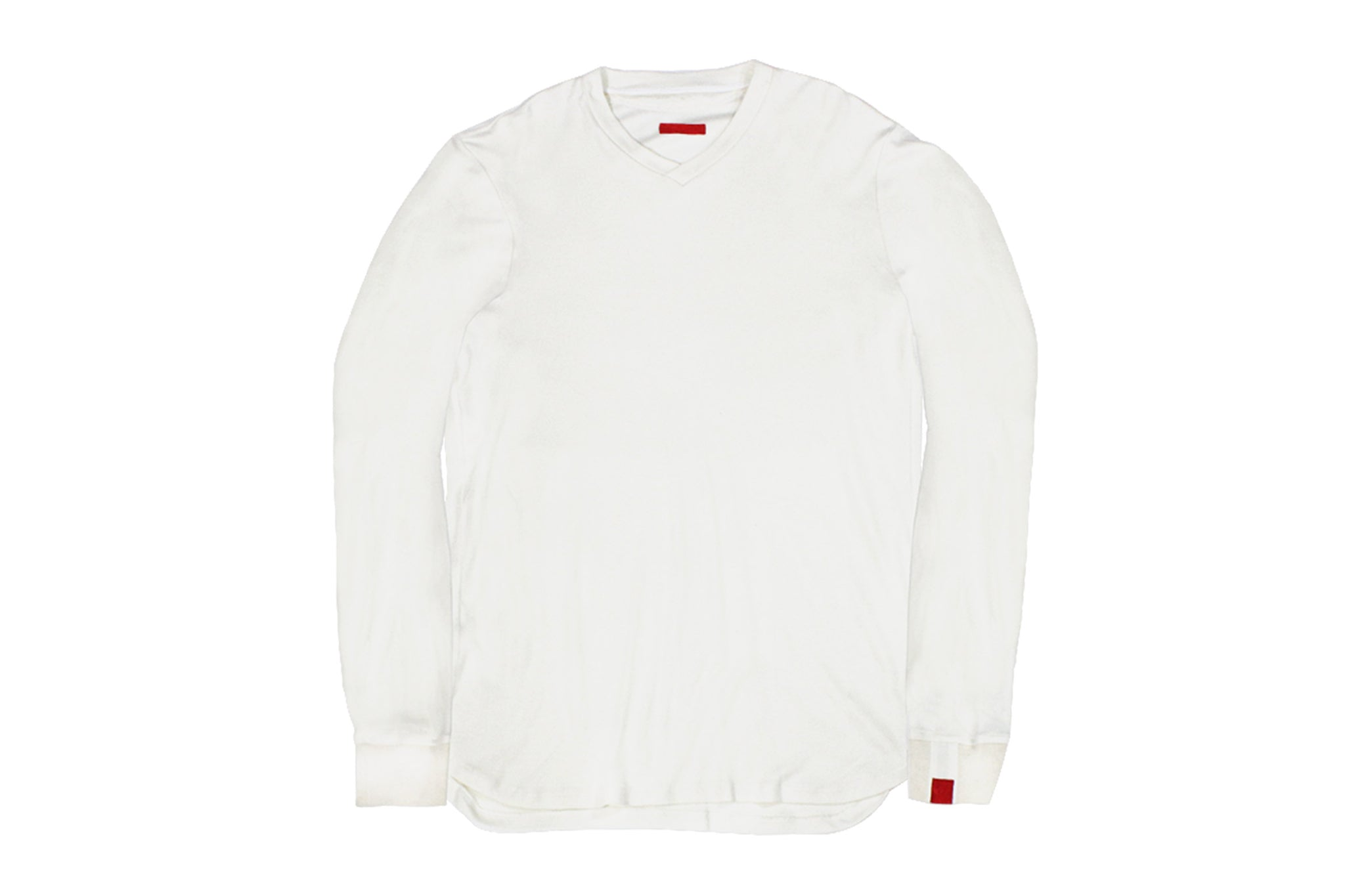 Warren Peace - Remy Long Sleeve T-Shirt in White Front - Designer Streetwear
