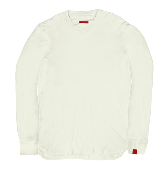 Warren Peace - Remy Long Sleeve T-Shirt in Fog Cover - Designer Streetwear
