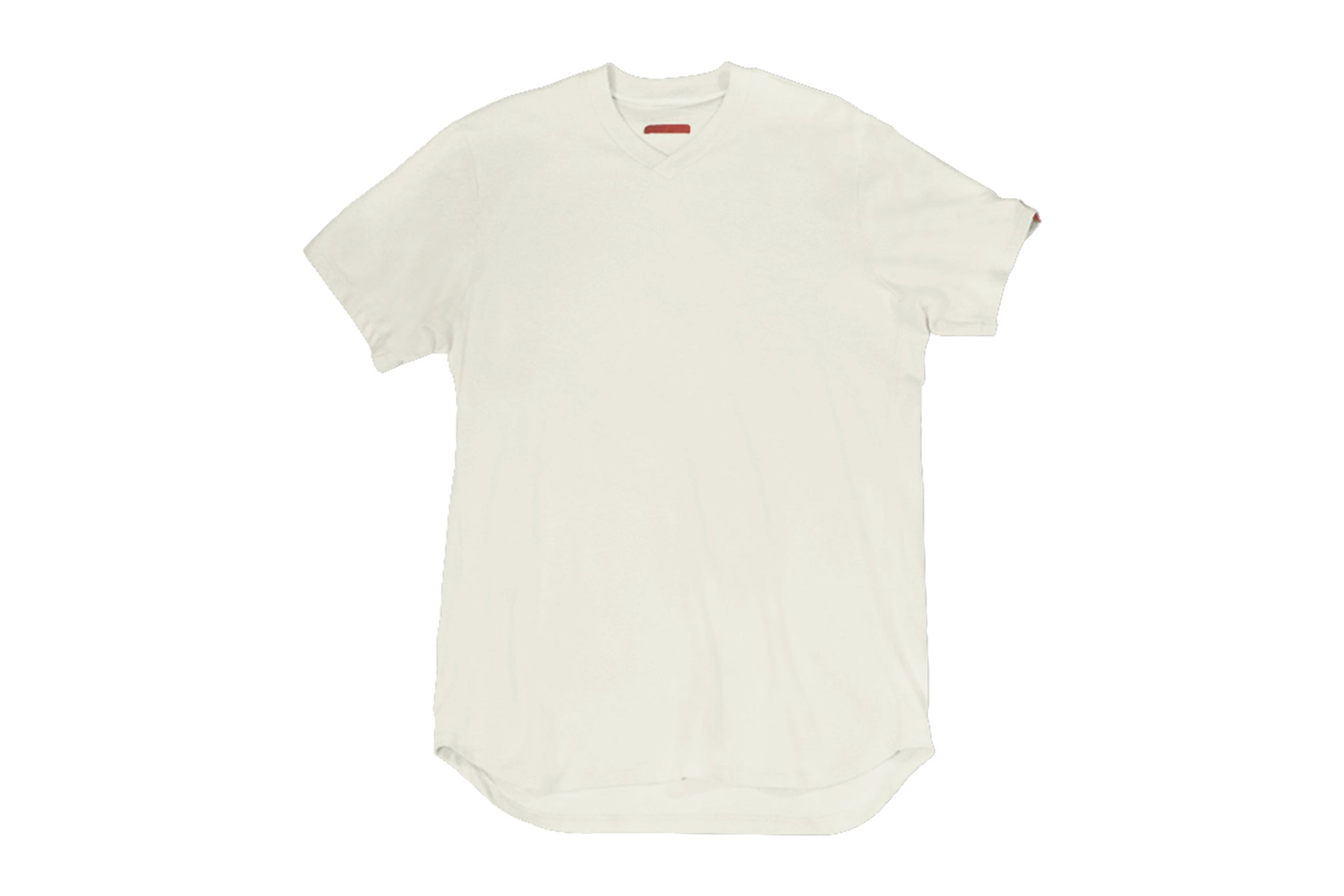 Warren Peace - Teller V-Neck T-Shirt in Fog Front - Designer Streetwear