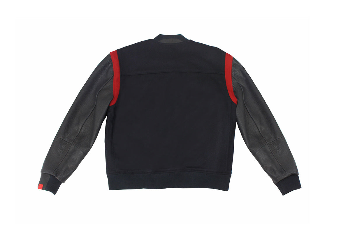 Warren Peace - Havoc Navy Varsity Jacket Back - Designer Streetwear