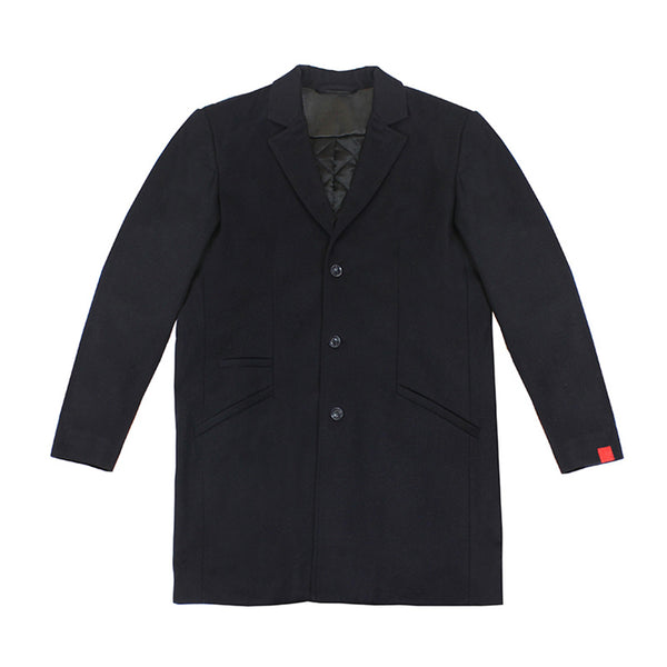 Saint Topcoat in Navy Cover - Warren Peace - Designer Streetwear