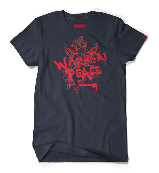 Warren Peace - Peacemaker Graphic T-Shirt in Navy Cover - Designer Streetwear