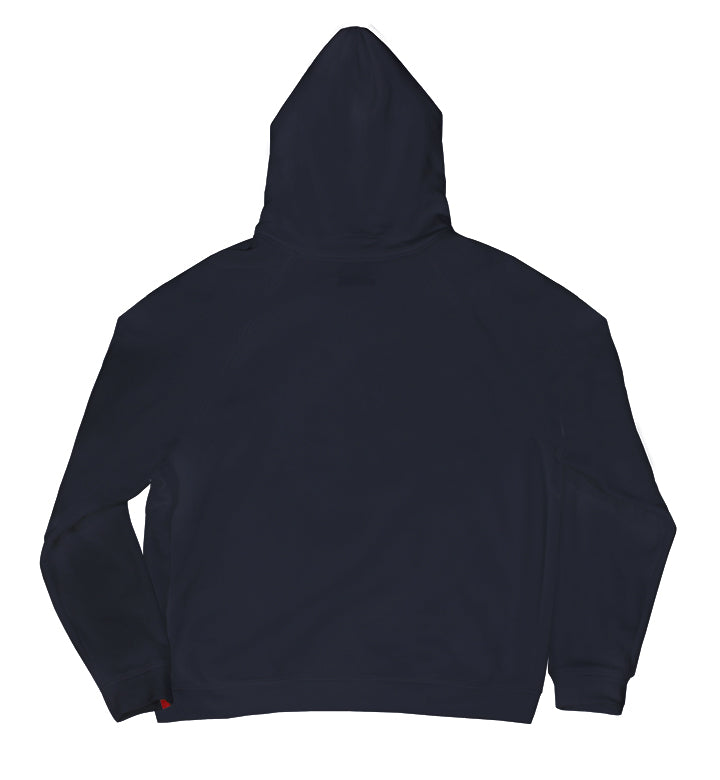 Warren Peace - Doom Pullover Hoodie in Navy Back - Designer Streetwear