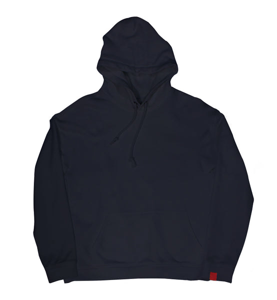 Warren Peace - Doom Pullover Hoodie in Navy Cover - Designer Streetwear