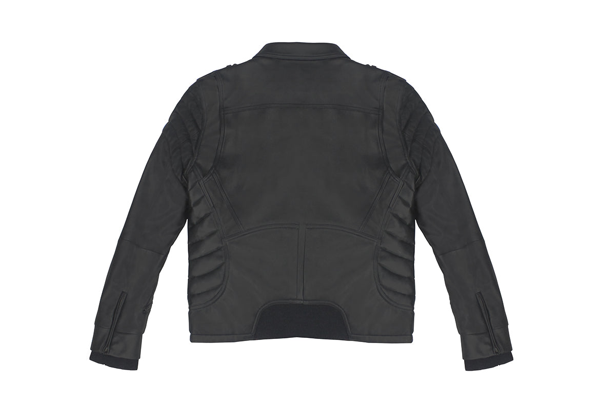 Warren Peace - Black Lamb Reaper Rider Jacket Back - Designer Streetwear